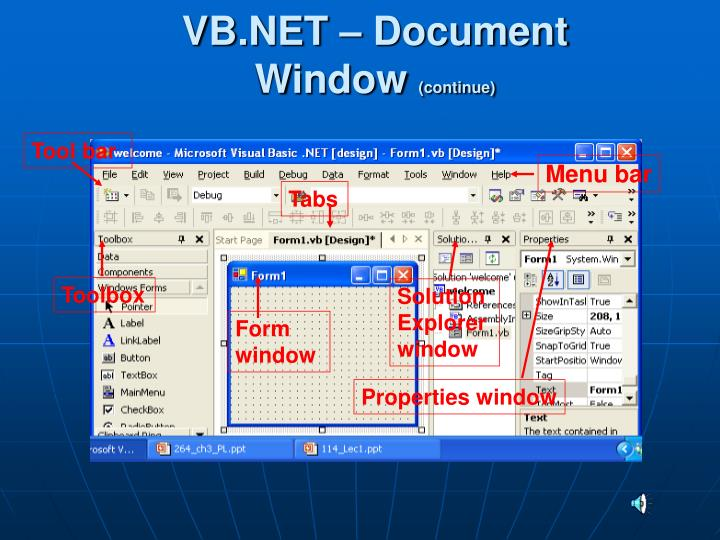 VB.NET – Document Window