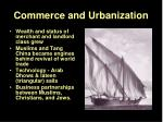 commerce and urbanization