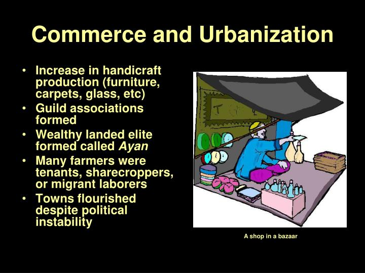 Commerce and Urbanization