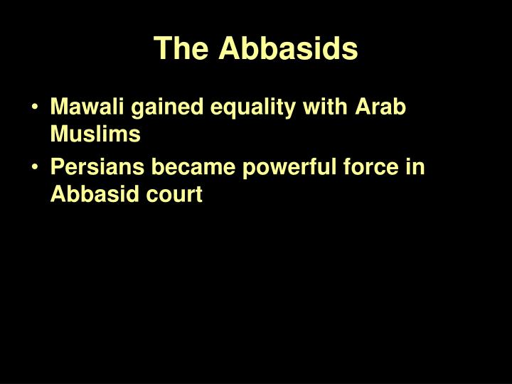 The Abbasids