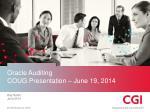 oracle auditing coug presentation june 19 2014