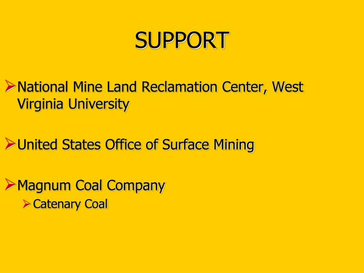 National Mine Land Reclamation Center, West Virginia University