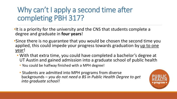 Why can't I apply a second time after completing PBH 317?