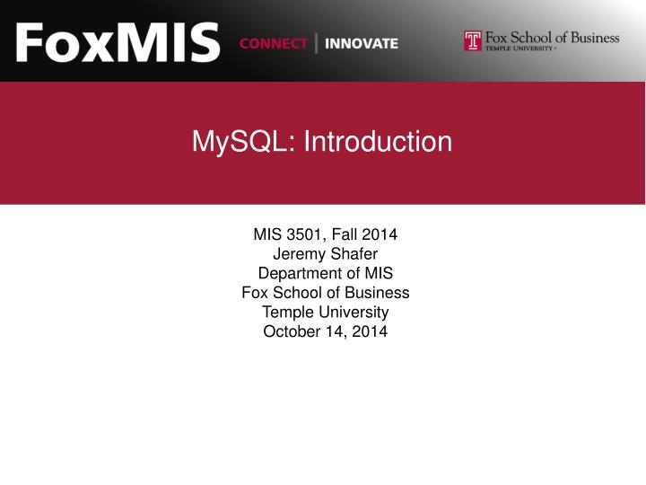 Mysql introduction