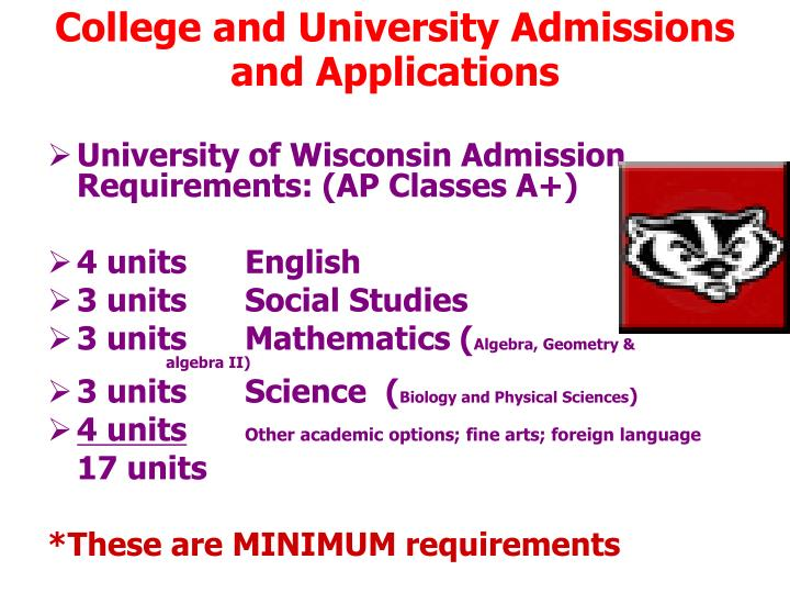 College and University Admissions and Applications