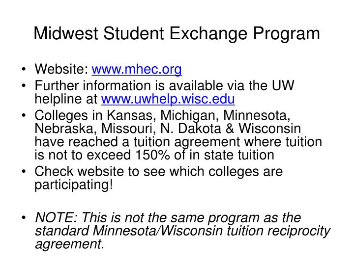 Midwest Student Exchange Program