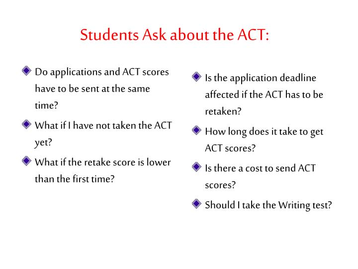Students Ask about the ACT: