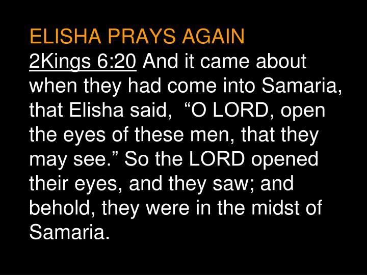 ELISHA PRAYS AGAIN