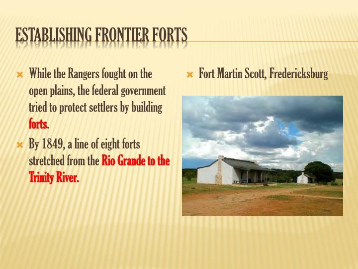Establishing Frontier Forts