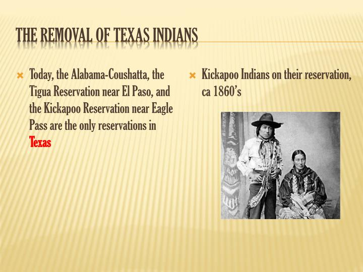 The Removal of Texas Indians