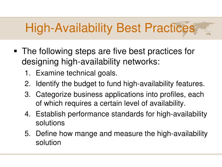 High-Availability Best Practices