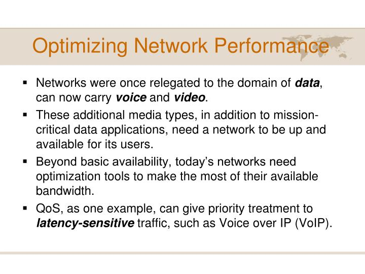 Optimizing network performance