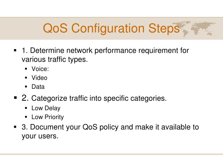 QoS Configuration Steps