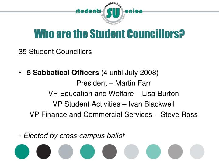 Who are the Student Councillors?