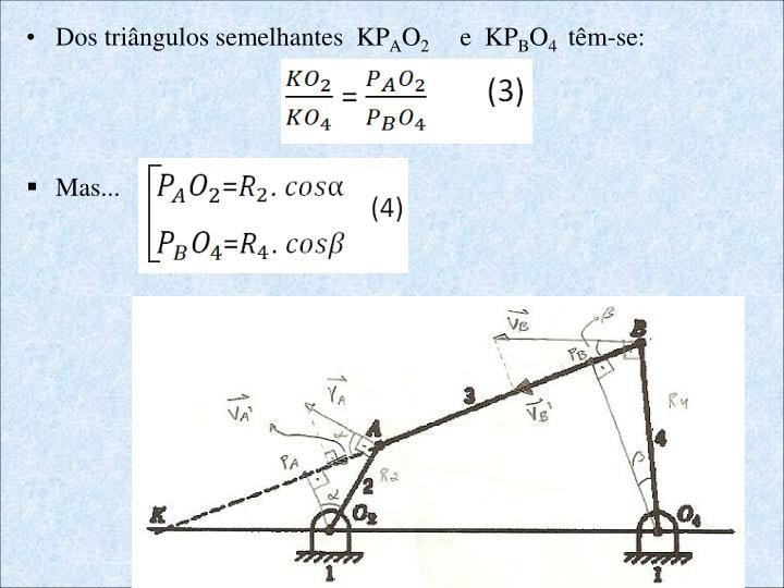Dos triângulos semelhantes  KP