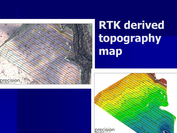 RTK derived topography map