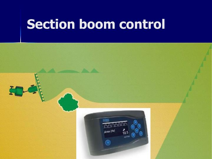 Section boom control