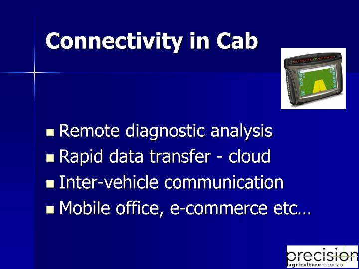 Connectivity in Cab