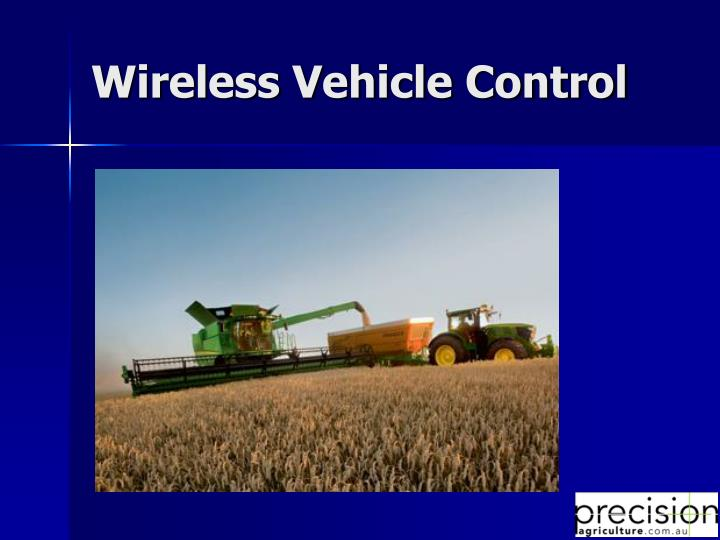 Wireless Vehicle Control