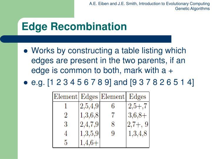 Edge Recombination