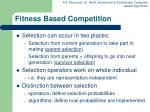 fitness based competition