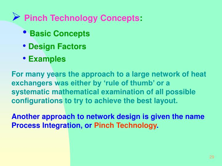 Pinch Technology Concepts
