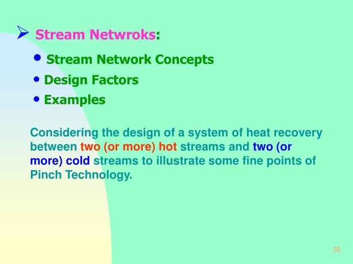 Stream Netwroks
