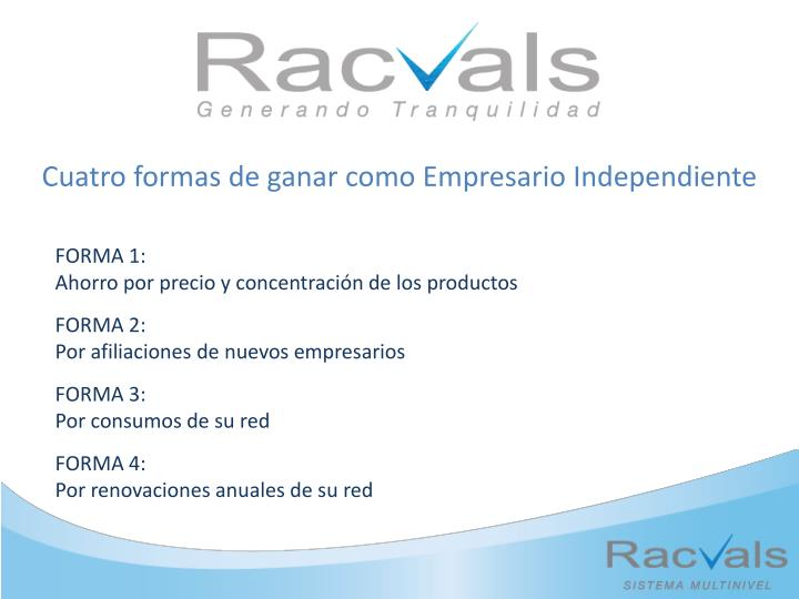 Cuatro formas de ganar como Empresario Independiente