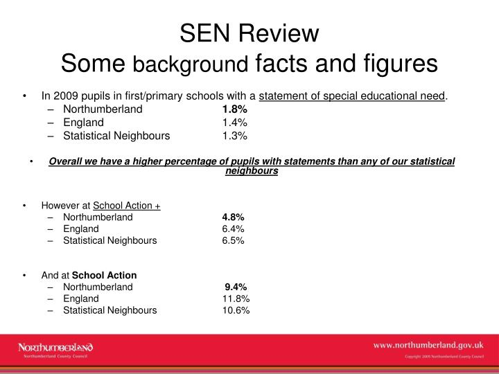 Sen review some background facts and figures