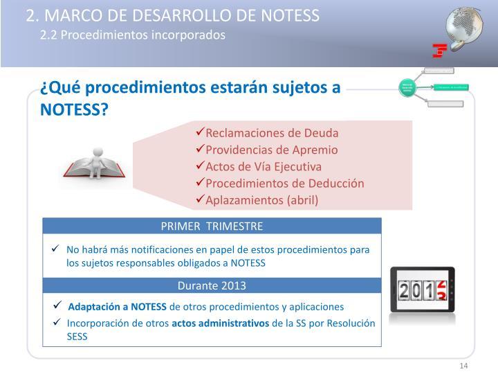 2. MARCO DE DESARROLLO DE NOTESS