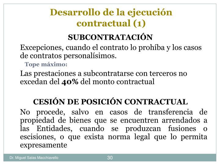 Desarrollo de la ejecución contractual (1)