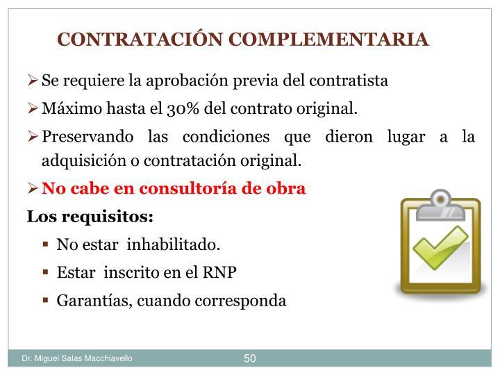 Se requiere la aprobación previa del contratista