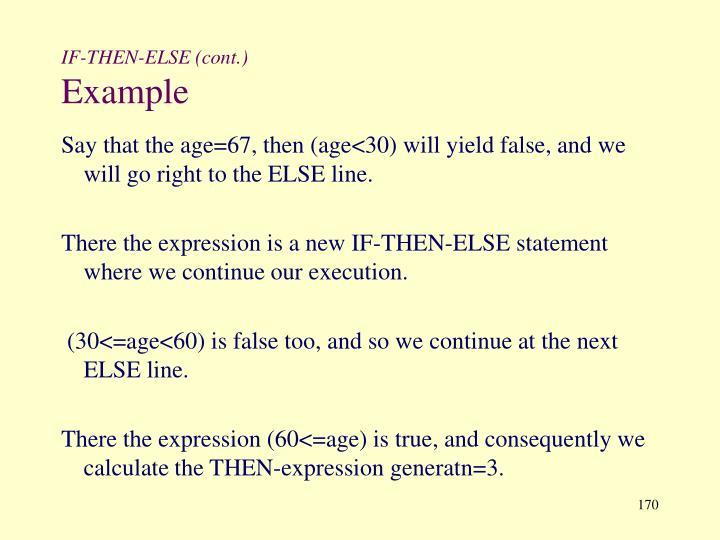 IF-THEN-ELSE (cont.)