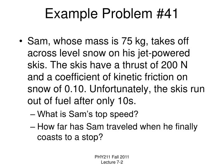 Example Problem #41