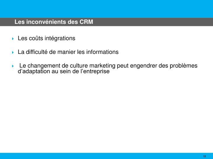 Les inconvénients des CRM