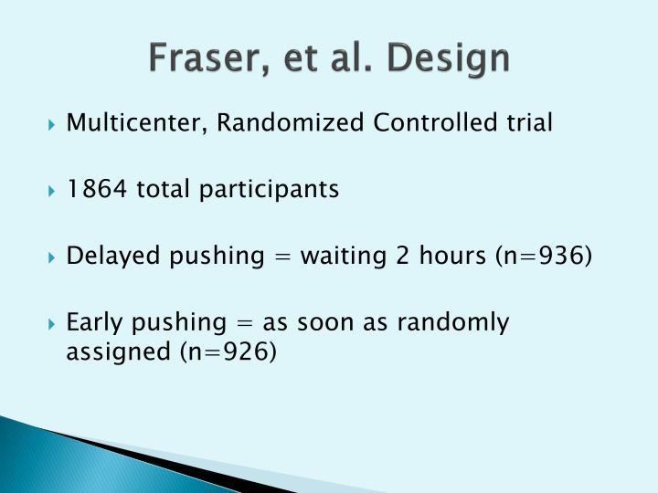 Fraser, et al. Design