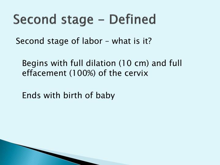 Second stage defined