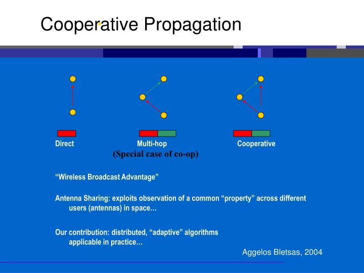 Cooperative Propagation