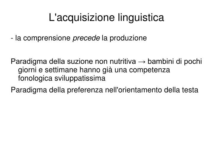 L'acquisizione linguistica