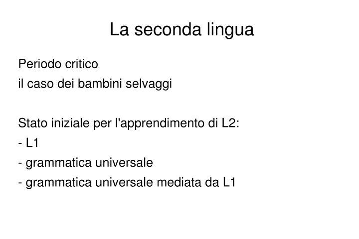La seconda lingua