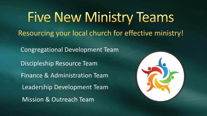 Five New Ministry Teams