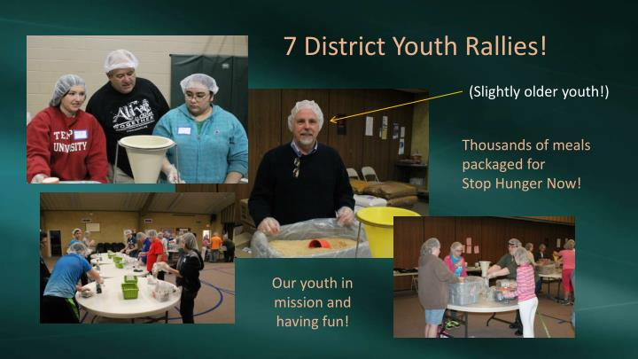 7 District Youth Rallies!