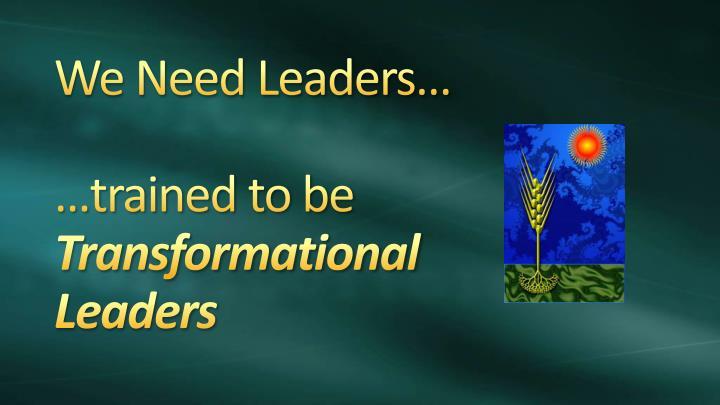We Need Leaders…