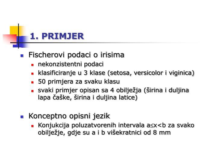 1. PRIMJER