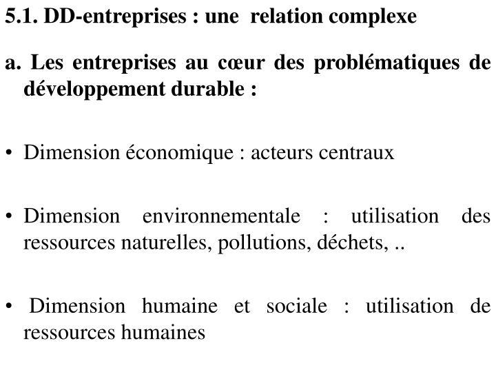 5.1. DD-entreprises : une  relation complexe