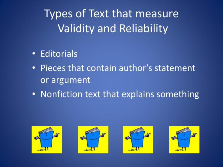 Types of Text that measure