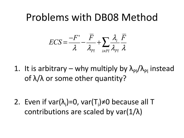 Problems with DB08 Method