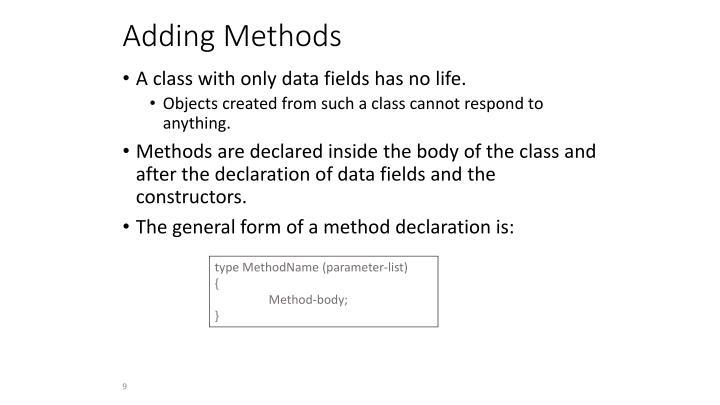 Adding Methods