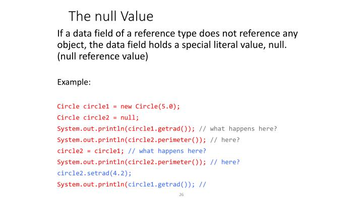 The null Value