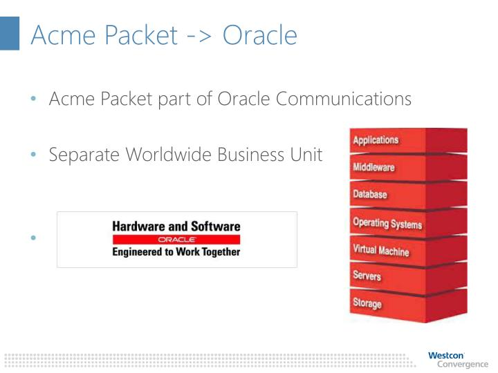 Acme packet oracle